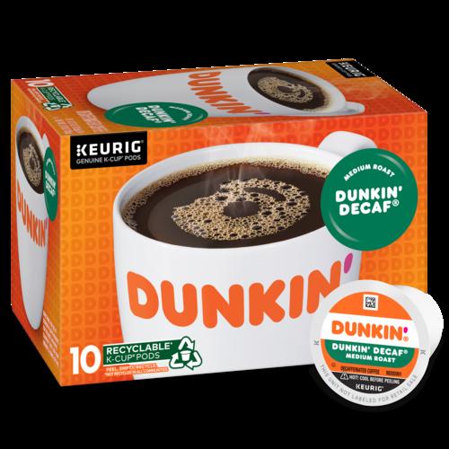 Dunkin' Decaf® K‑Cup® Pods