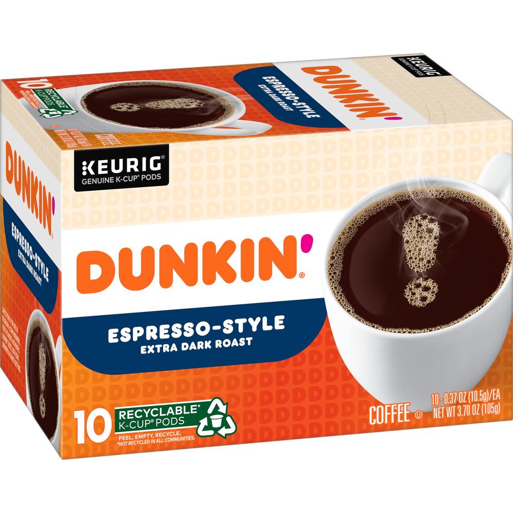 Dunkin' Espresso-Style Extra DarkRoast Coffee K‑Cup® Pods