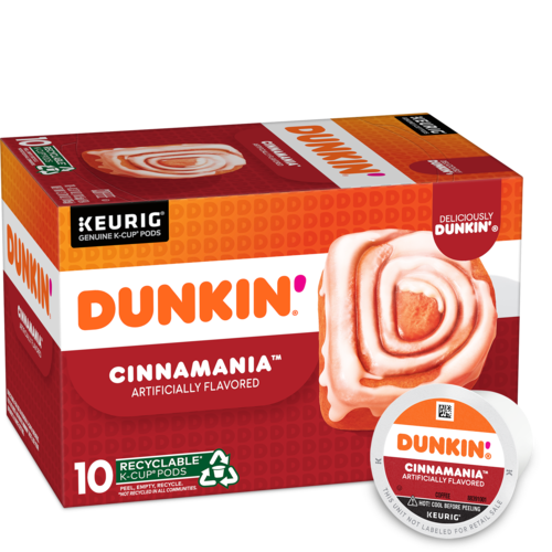 Dunkin'Cinnamania Artificially Flavored CoffeeK-Cup® Pods