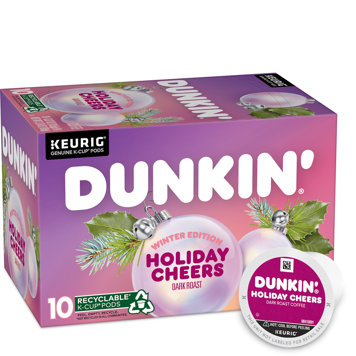 Holiday Cheers Dark Roast Coffee K‑Cup® Pods