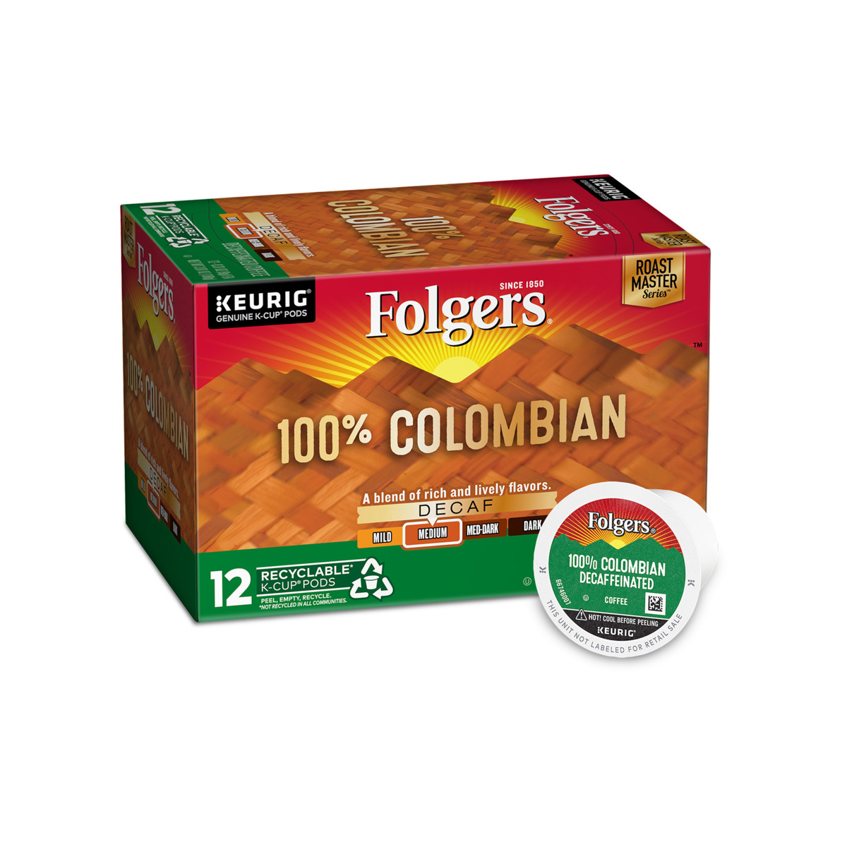 100% Colombian Decaf Coffee K-Cup® Pods