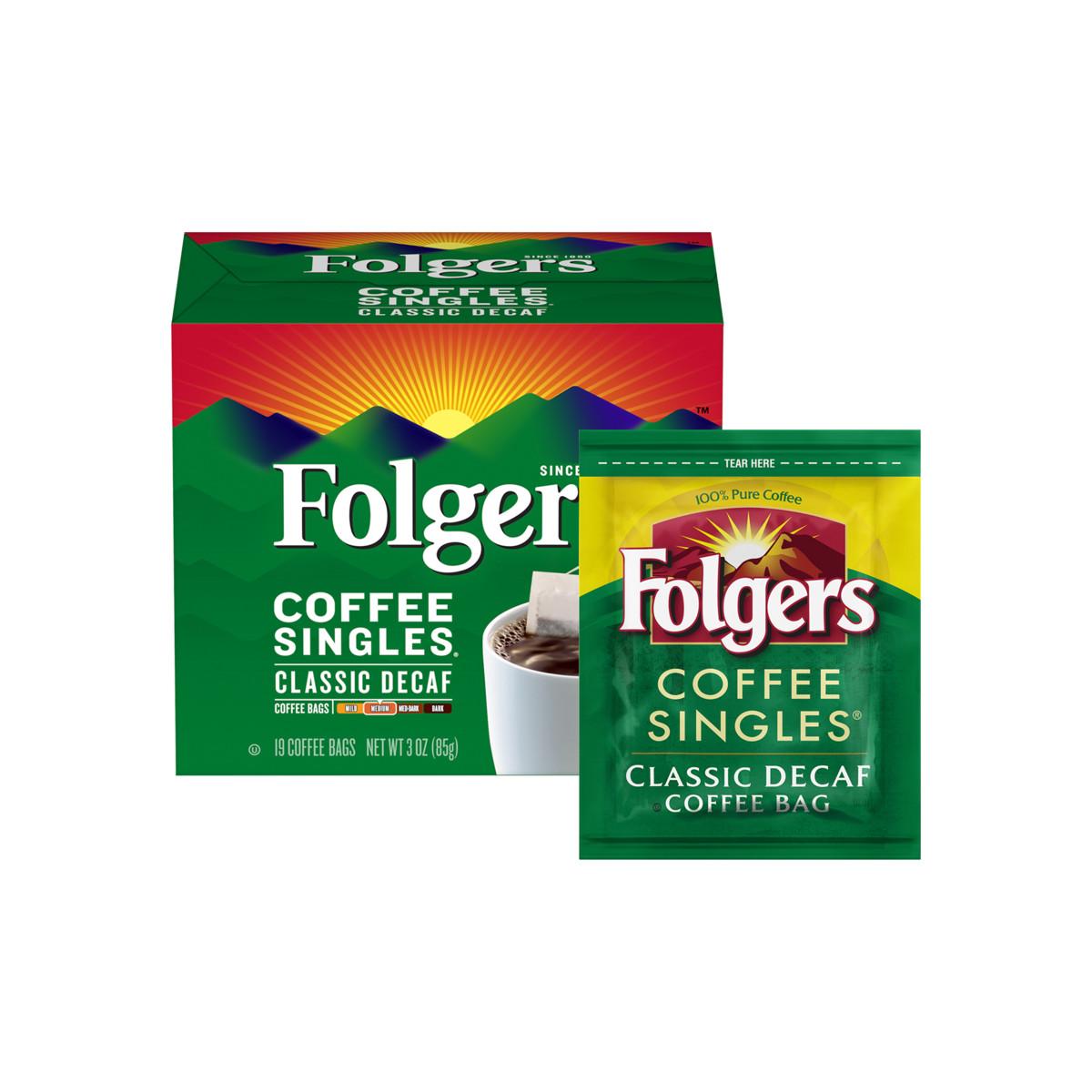 Classic Decaf Coffee Singles