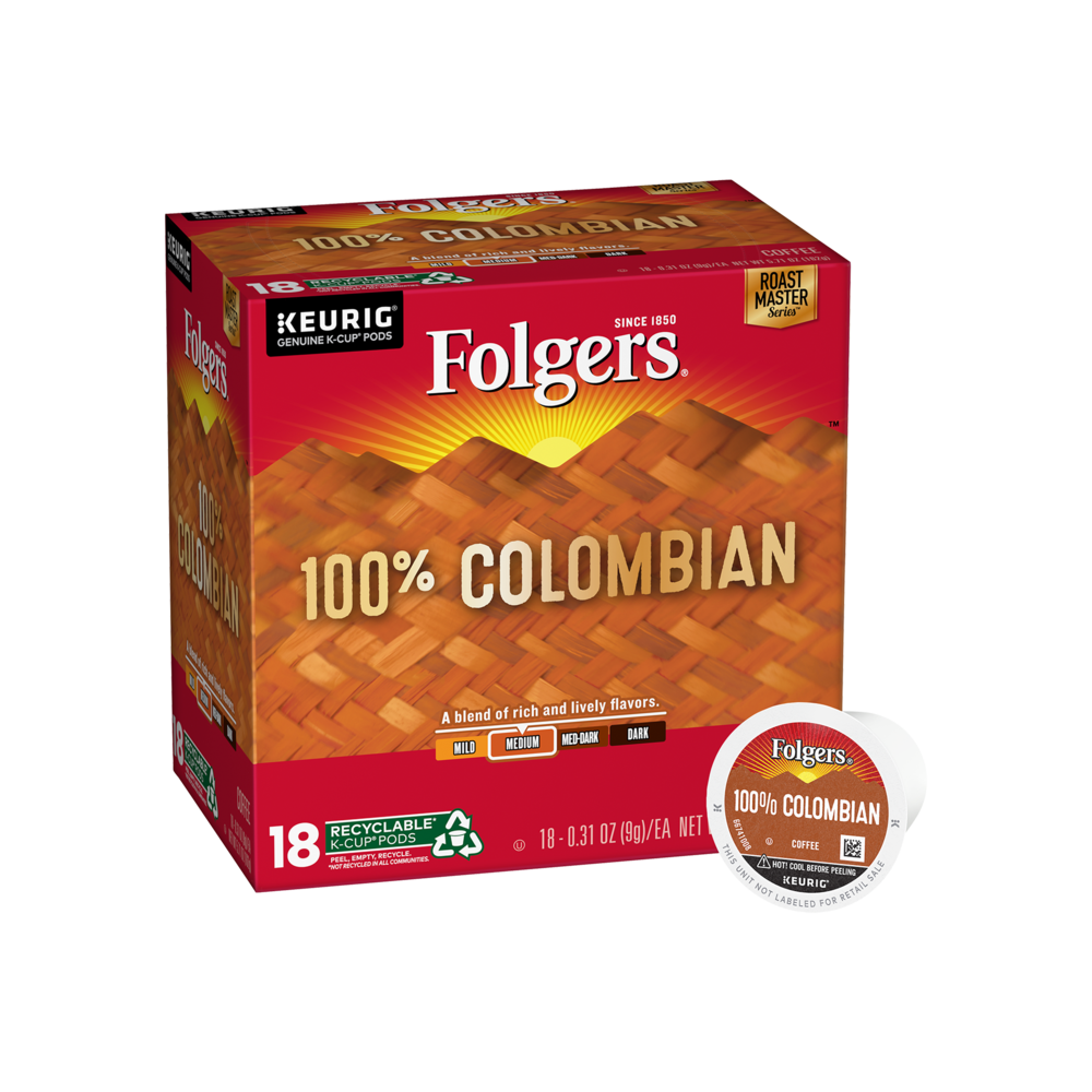 100% Colombian Coffee K-Cup® Pods